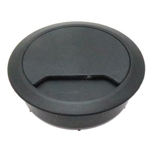 round desk cable tidy to suit 60mm hole black dct001 vital parts
